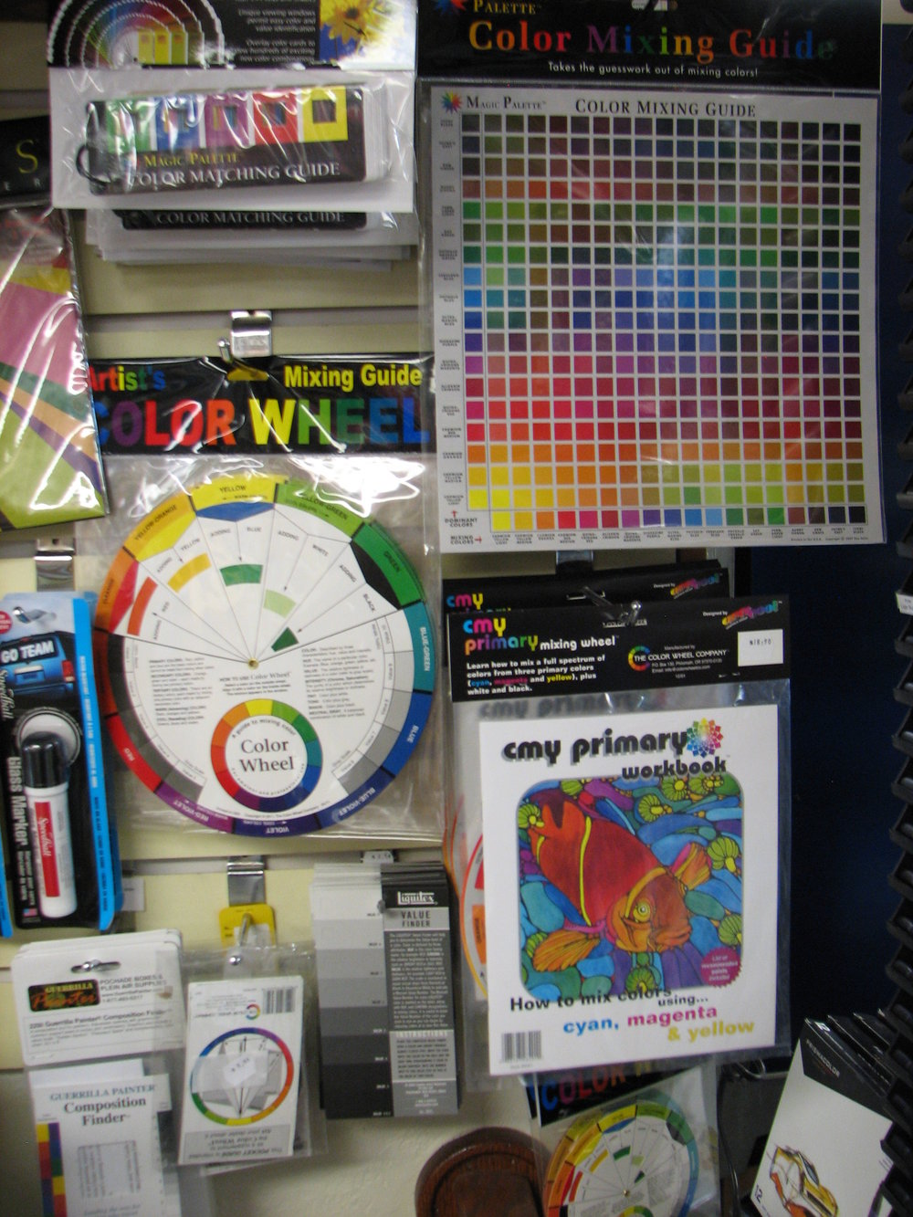 Color Wheels, View finders and Origami paper, bone folders