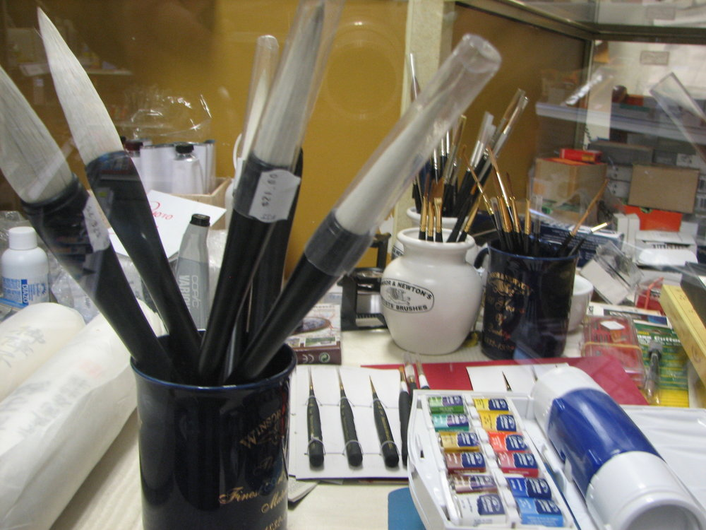 Sumi Painting supplies and rice paper