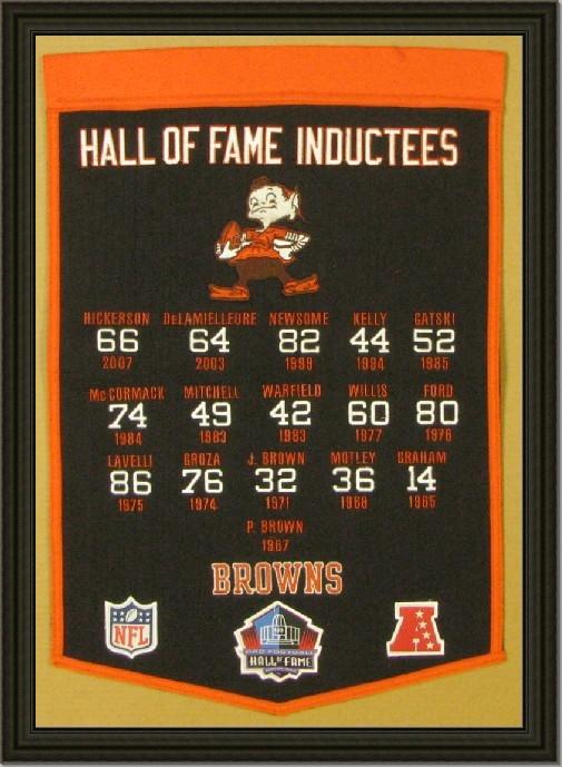 Browns felt Banner