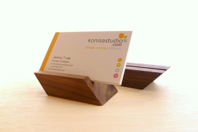 Adanac chevron business card display stand konisa studio shop adanac chevron business card display stand reheart Gallery