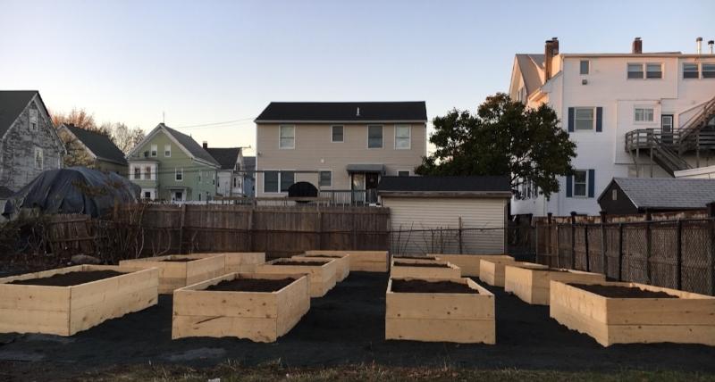 The garden site as of November 2017