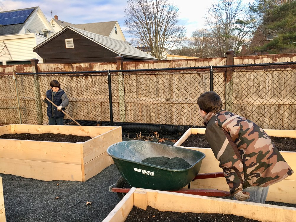 Young Gardeners Building Willowood Community Garden