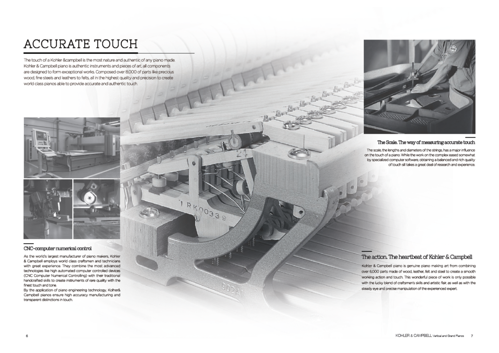 Kohler & Campbell Pianos Accurate Touch