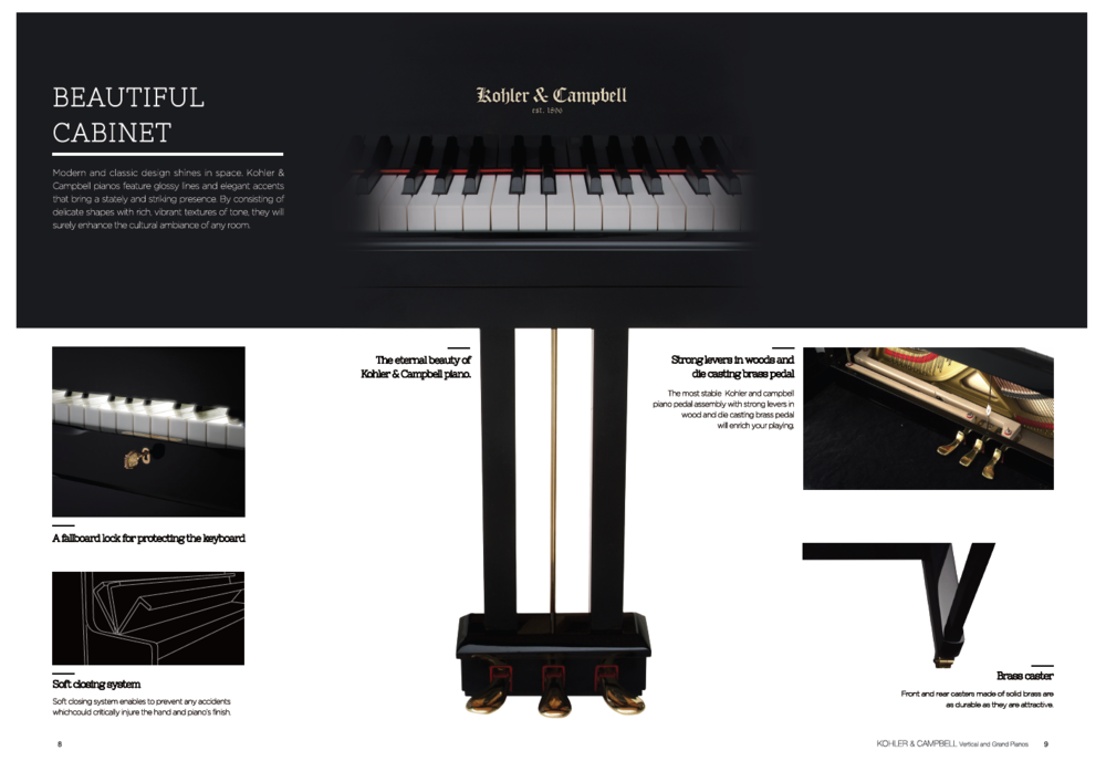 Kohler & Campbell Pianos Beautiful Cabinet