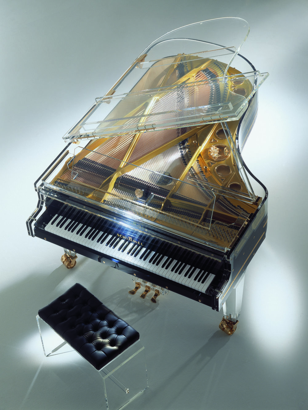 Schimmel Pianos Acrylic Grand Black Top Glas Bespoke