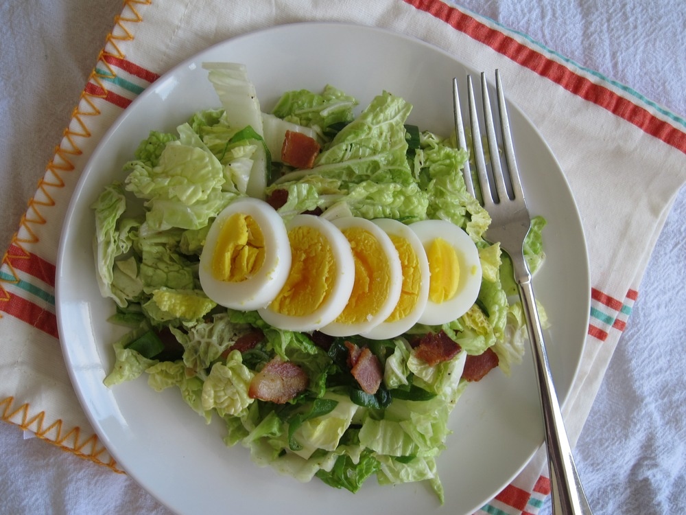Napa Cabbage Salad with Spicy Bacon Dressing