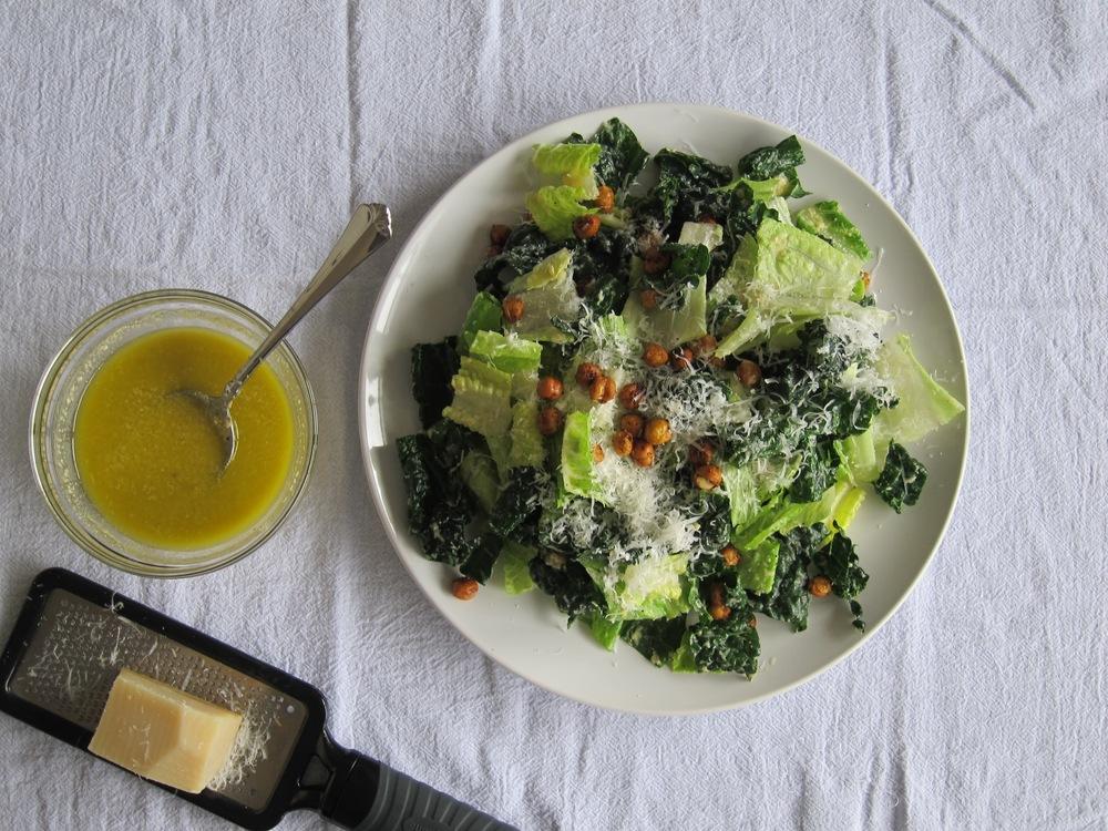Kale and Romaine Caesar