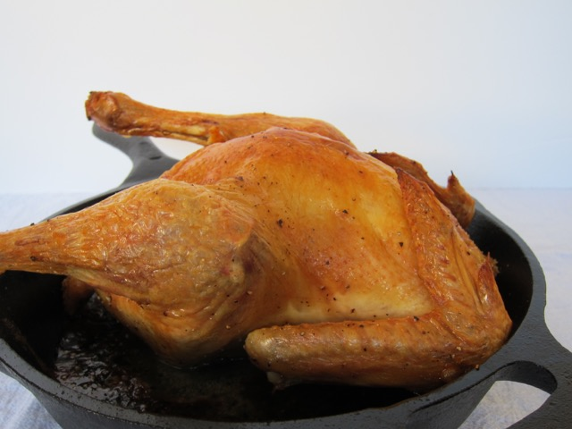 Simple & Quick Cast Iron Roasted Chicken