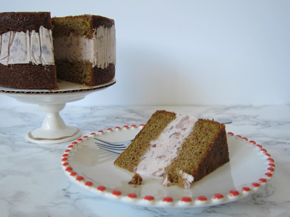 Matcha Azuki Bean Ice Cream Cake