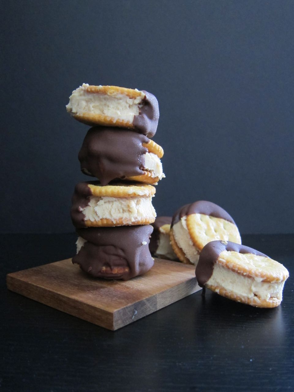 Peanut Butter Ritz Ice Cream Sandwiches