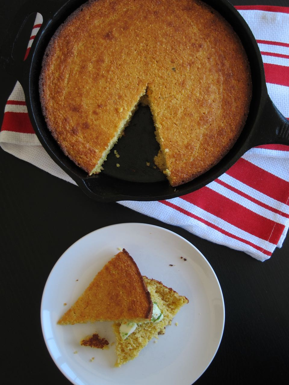 Skillet Cornbread with Jalapeno Butter
