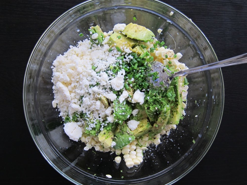 How to Make Raw Corn Avocado Salad