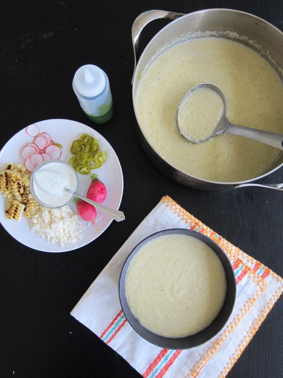 Summer Corn Soup with Garnish