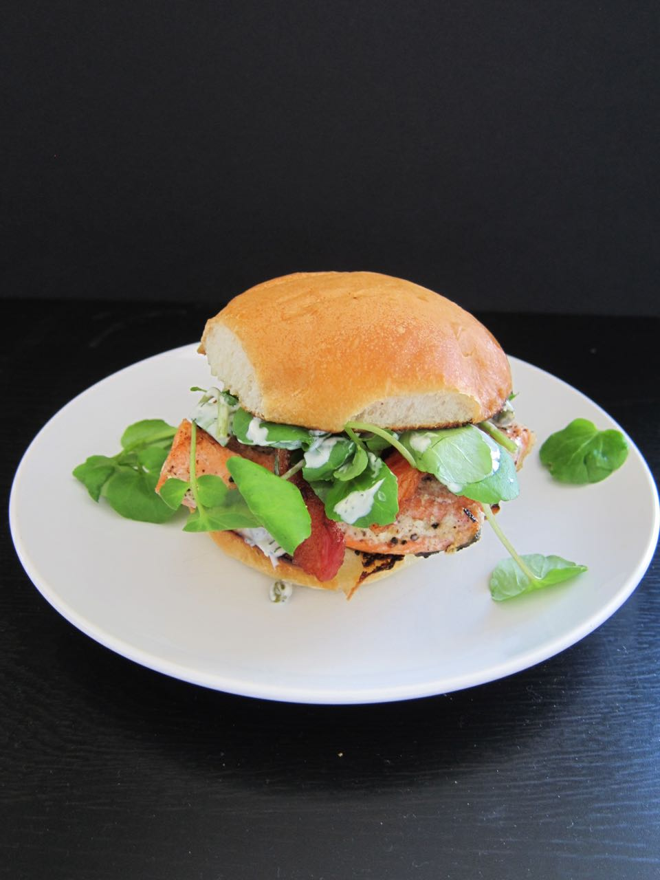 Salmon Bacon Sandwich