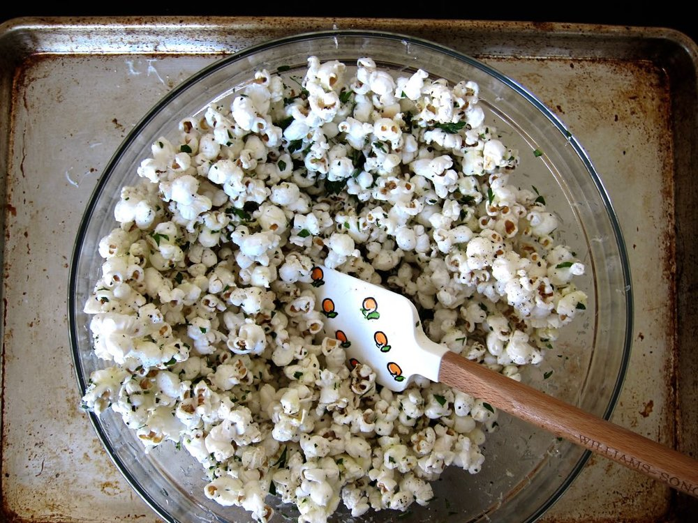 Mixing Truffle Parm Popcorn