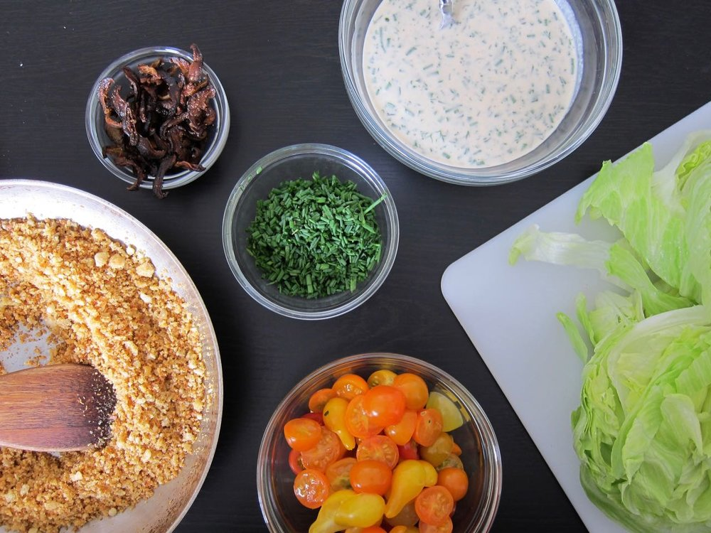 Vegan Wedge Salad Components
