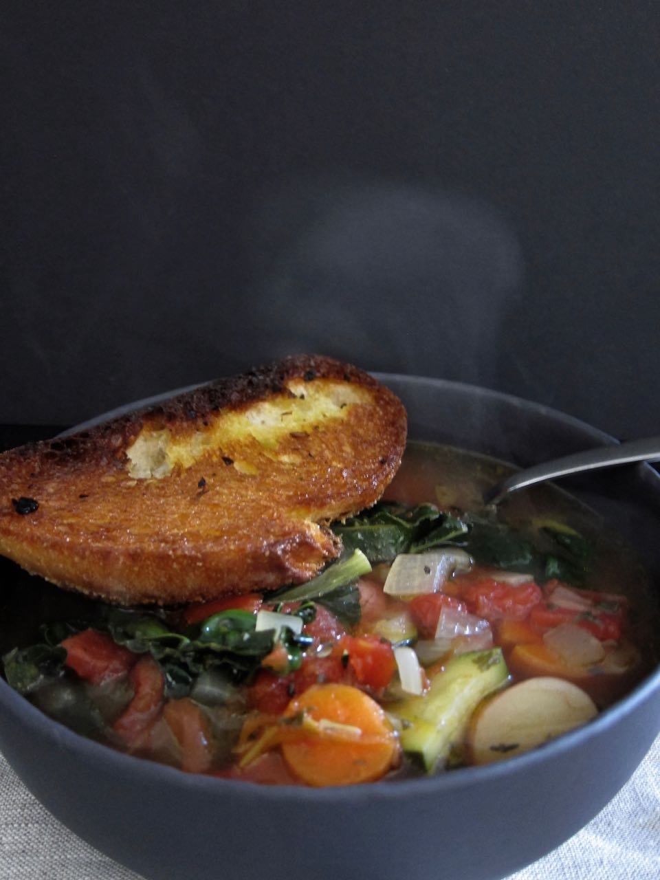 Minestrone with Fried Toast