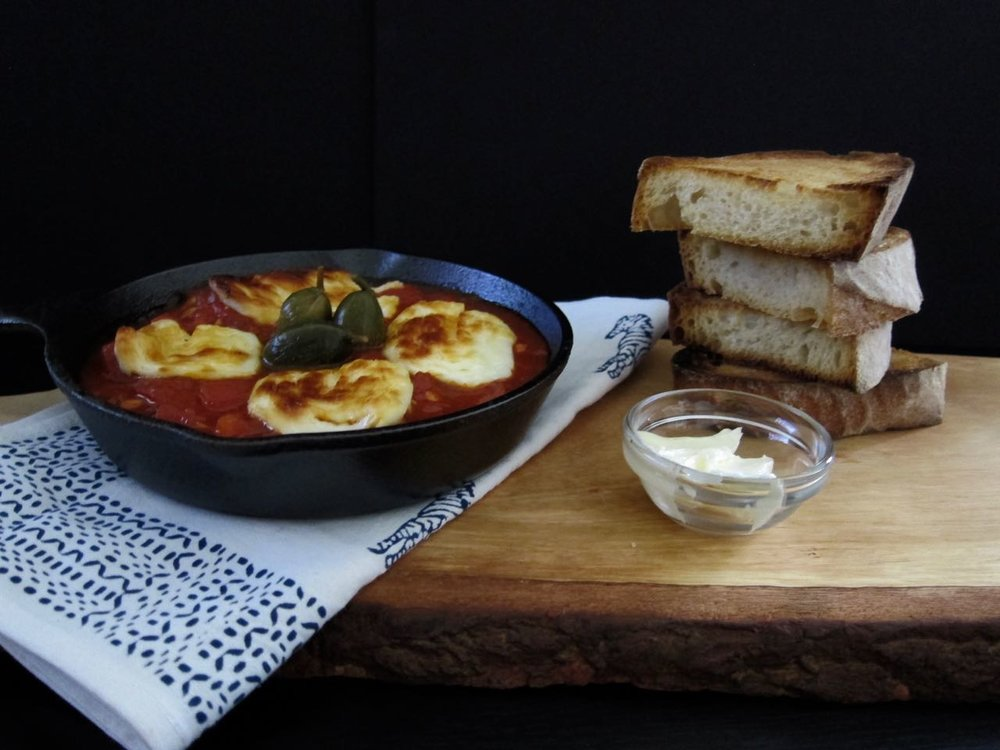 Shakshouka with Haloumi