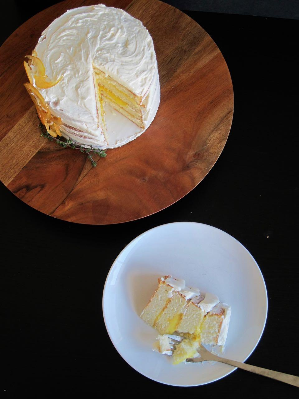 sliced lemon thyme cake