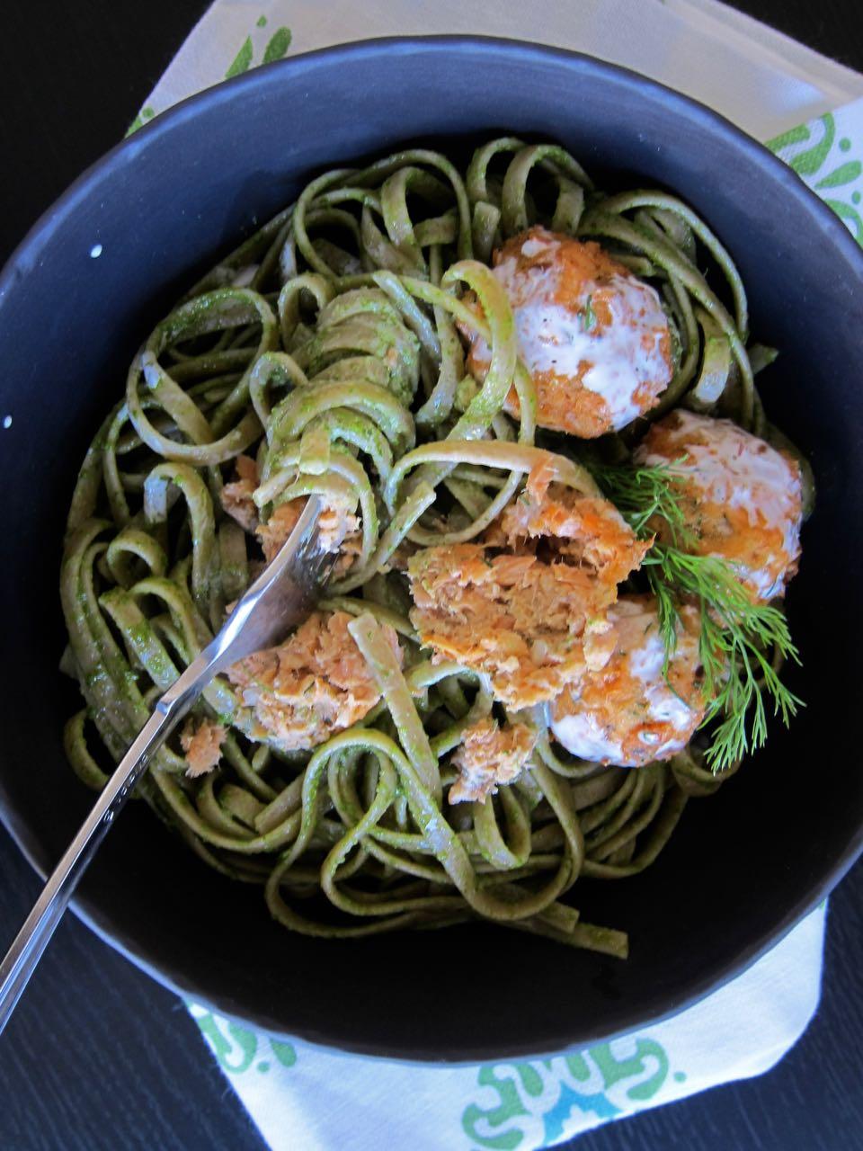 Salmon Meatballs & Pasta