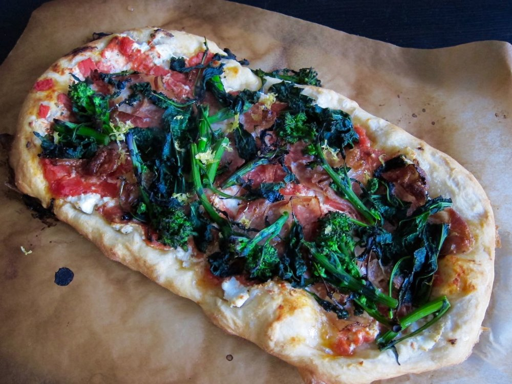 Ricotta Coppa Broccoli Rabe Flatbread