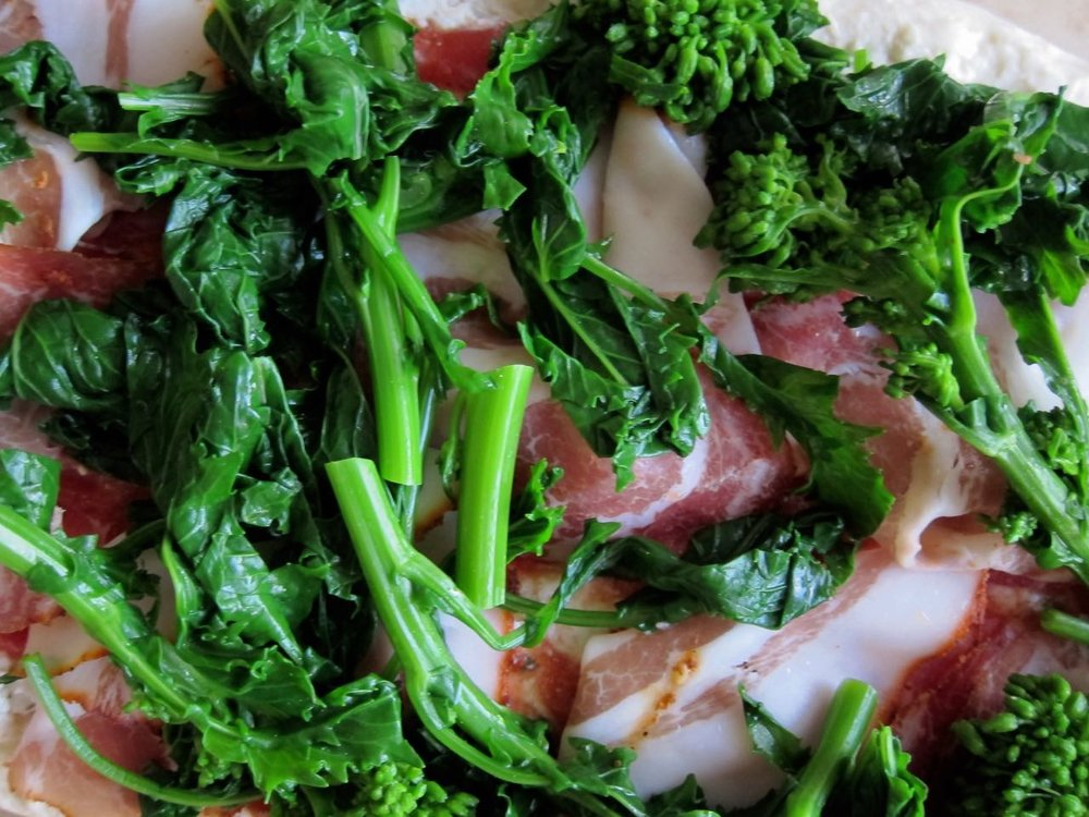 Ricotta Coppa Broccoli Rabe Flatbread ready to bake