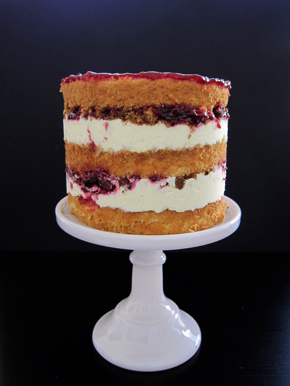 Sweet Corn Blackberry and Lime Cake