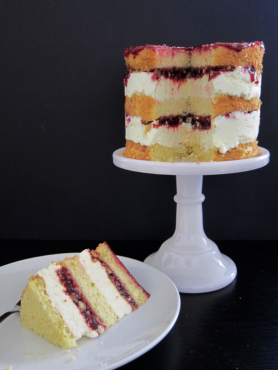 corn blackberry cake