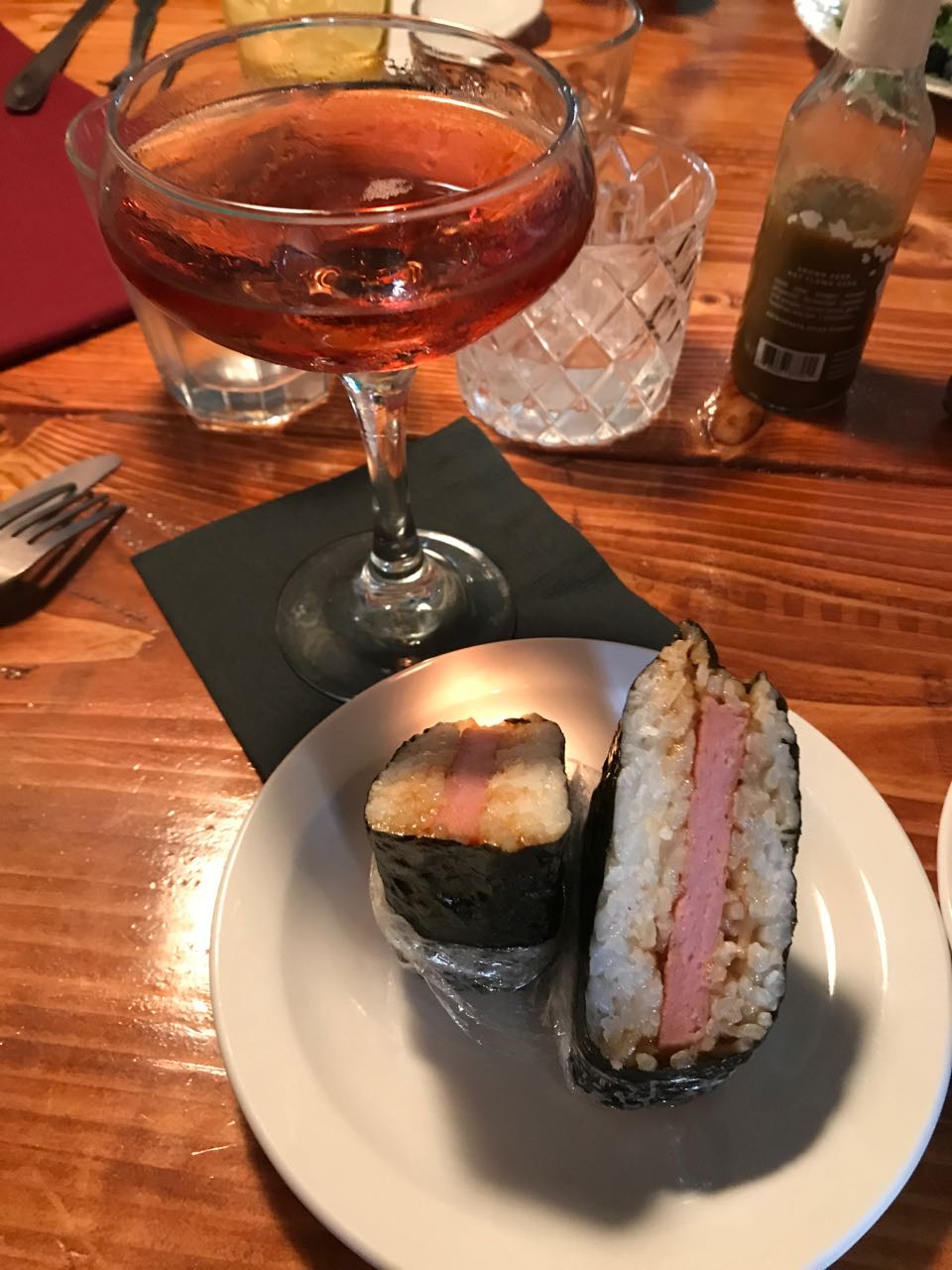 Musubi and champagne.jpg