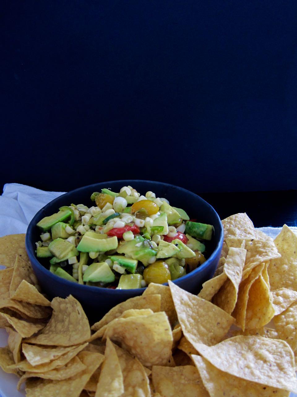 Charred veggie guacamole