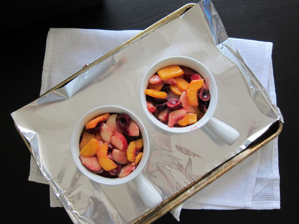 mixed stone fruit