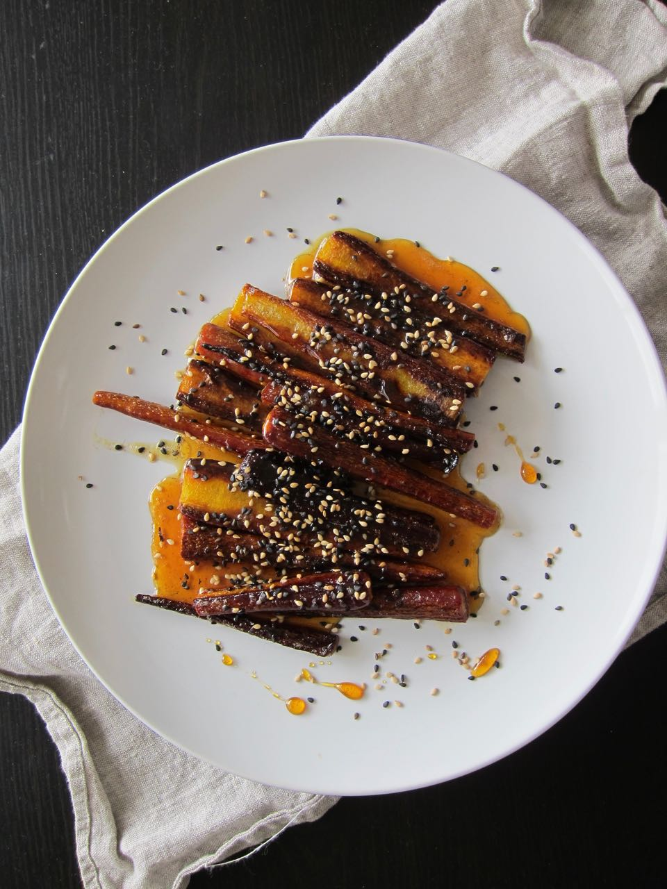Roast Carrots with Burnt Honey and Sesame