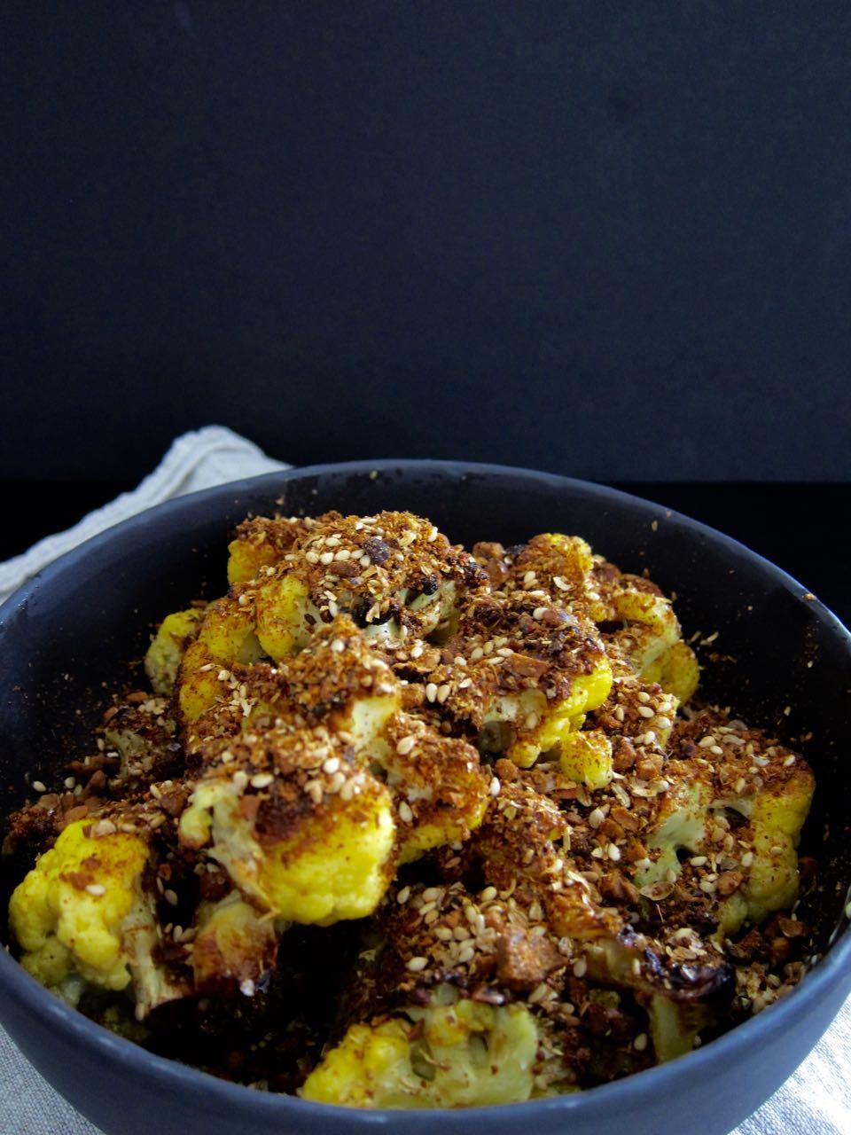 Fried Cauliflower with Dukkah