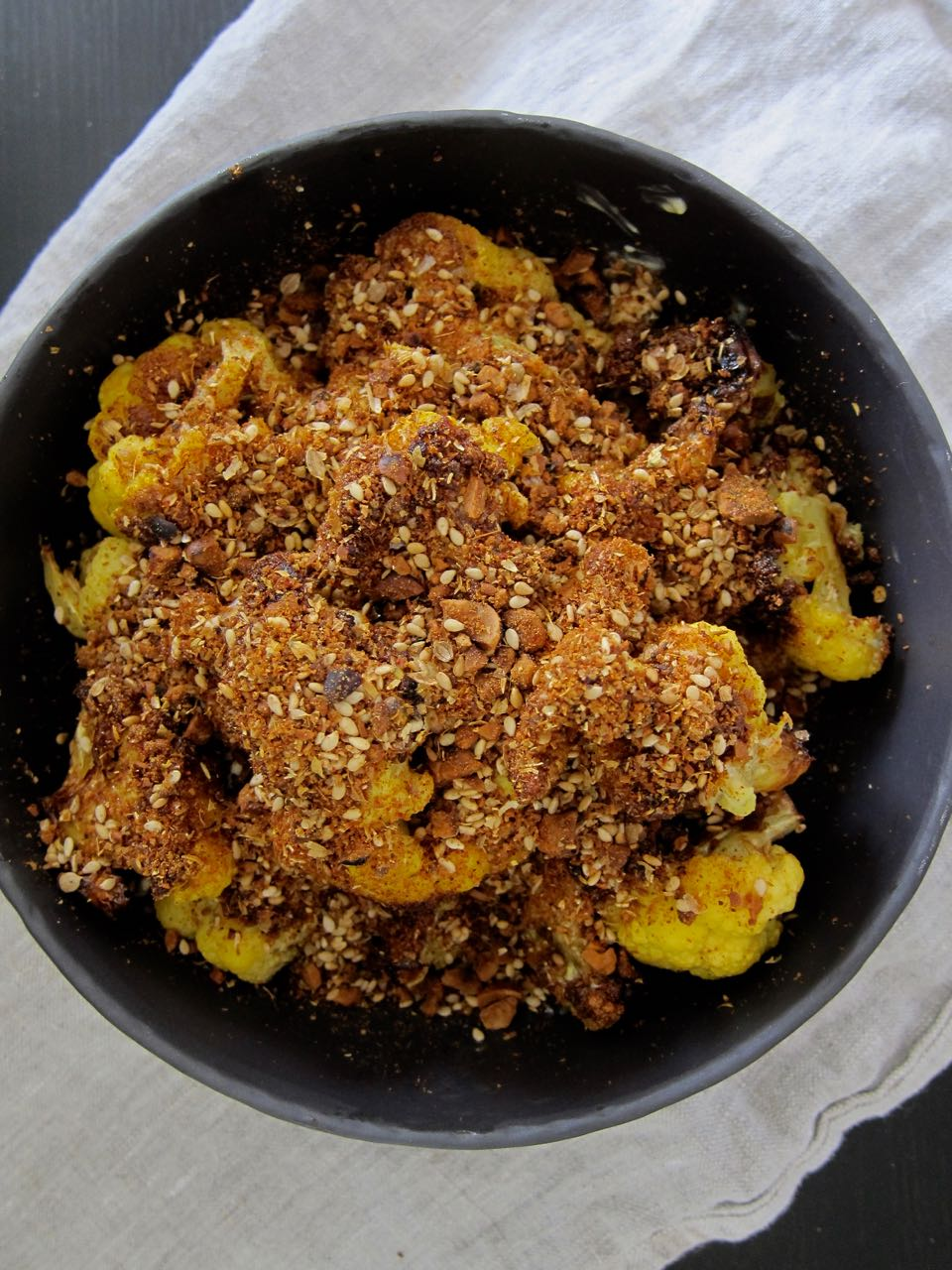 Fried Cauliflower with Homemade Dukkah