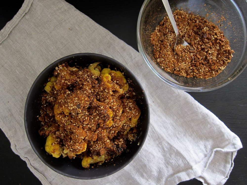 Topping Cauliflower with Dukkah