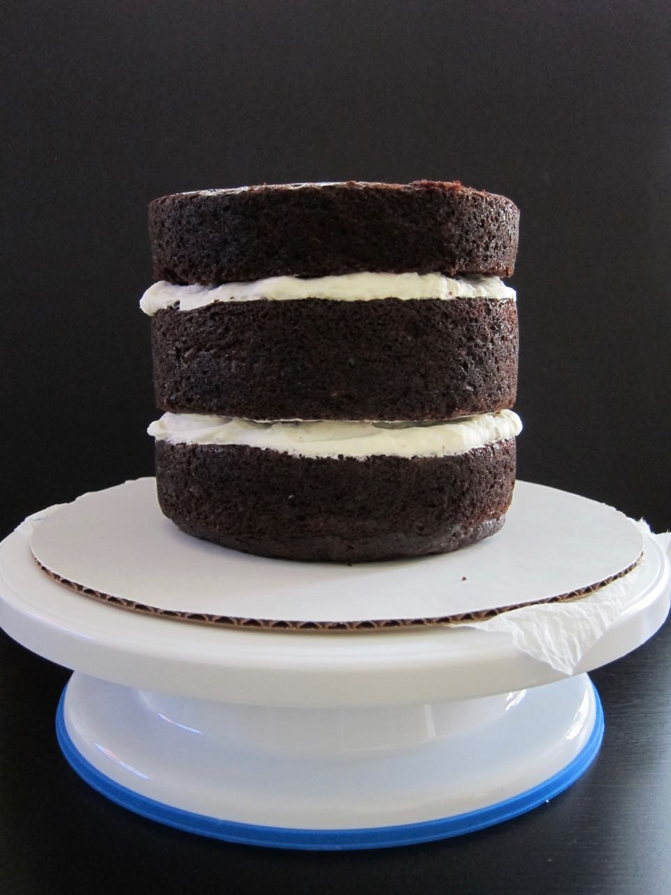 Stacked Chocolate Zucchini cake layers.jpg
