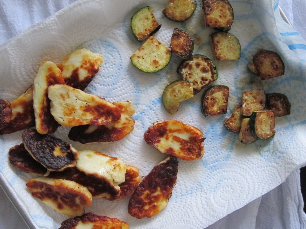 Fried Haloumi and Zaatar