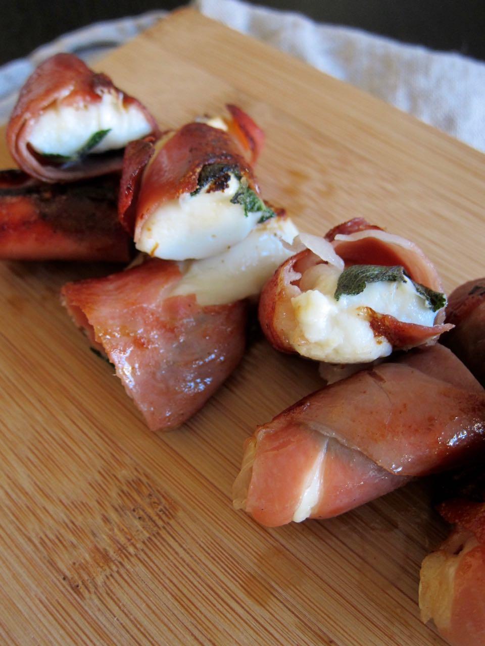 Prosciutto Mozz and Sage Bites