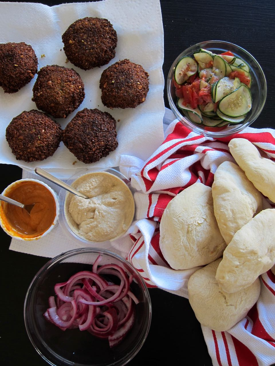 Falafel Burger Fixings