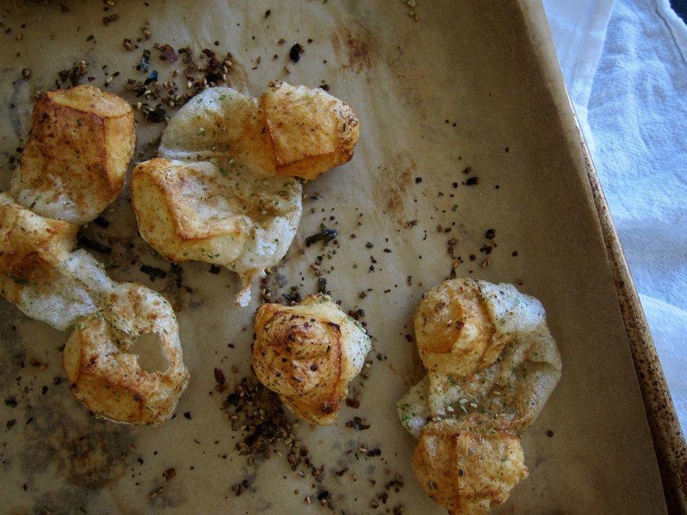Furikake dusted baked mochi.jpg