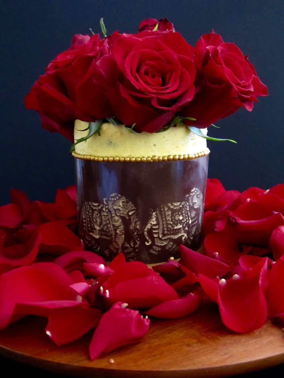 Chai Cake with Golden Milk Custard & Ginger Turmeric Buttercream