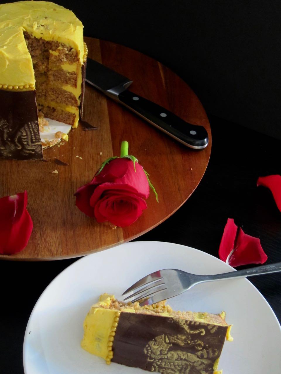 Sliced Bride & Prejudice Cake