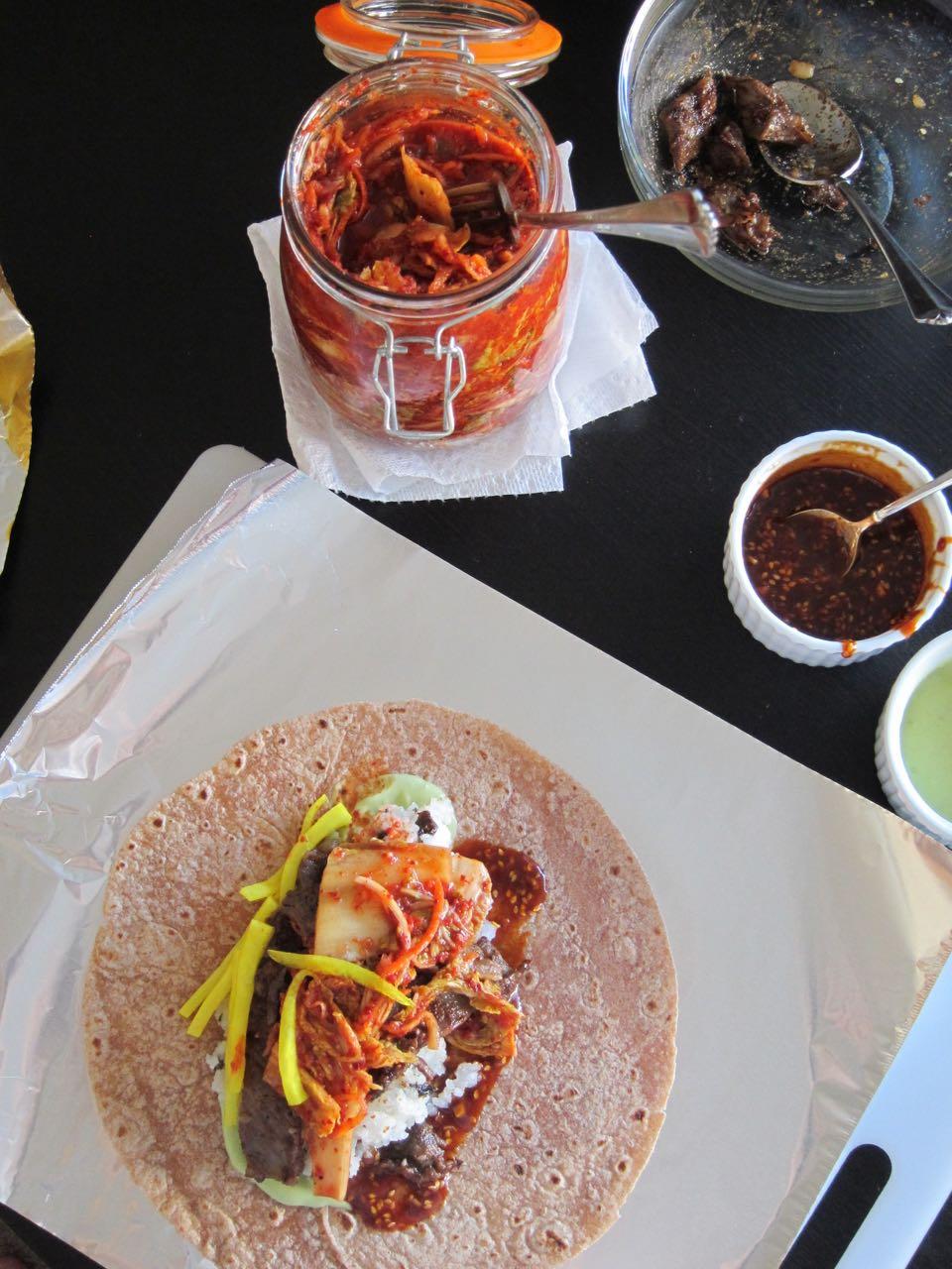 Bulgogi Kimchi Burritos