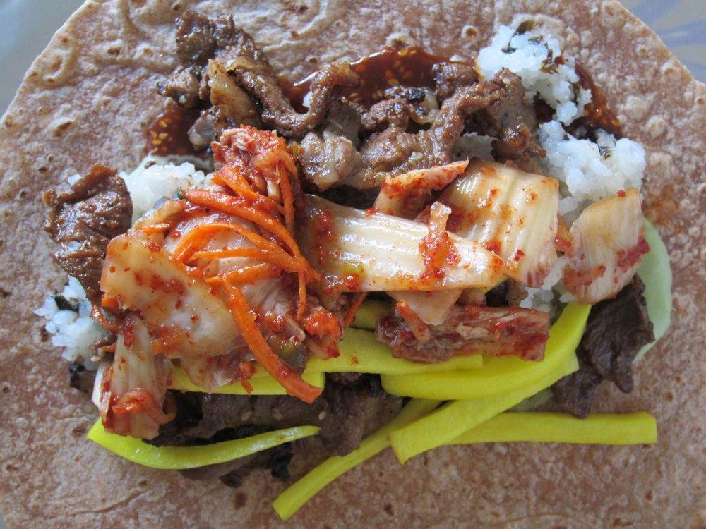 kimchi bulgogi burrito filling