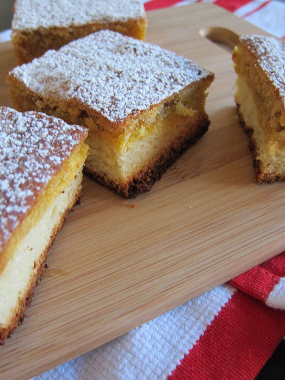 slices of pumpkin gooey butter cake