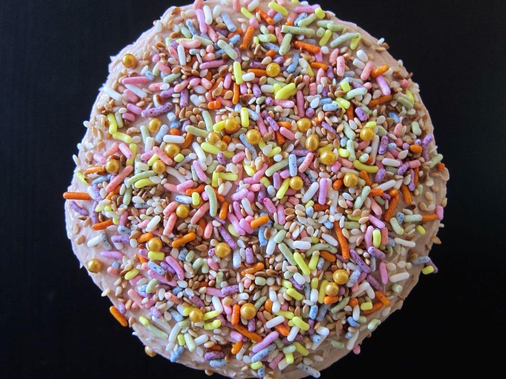 sprinkles and sesame seeds