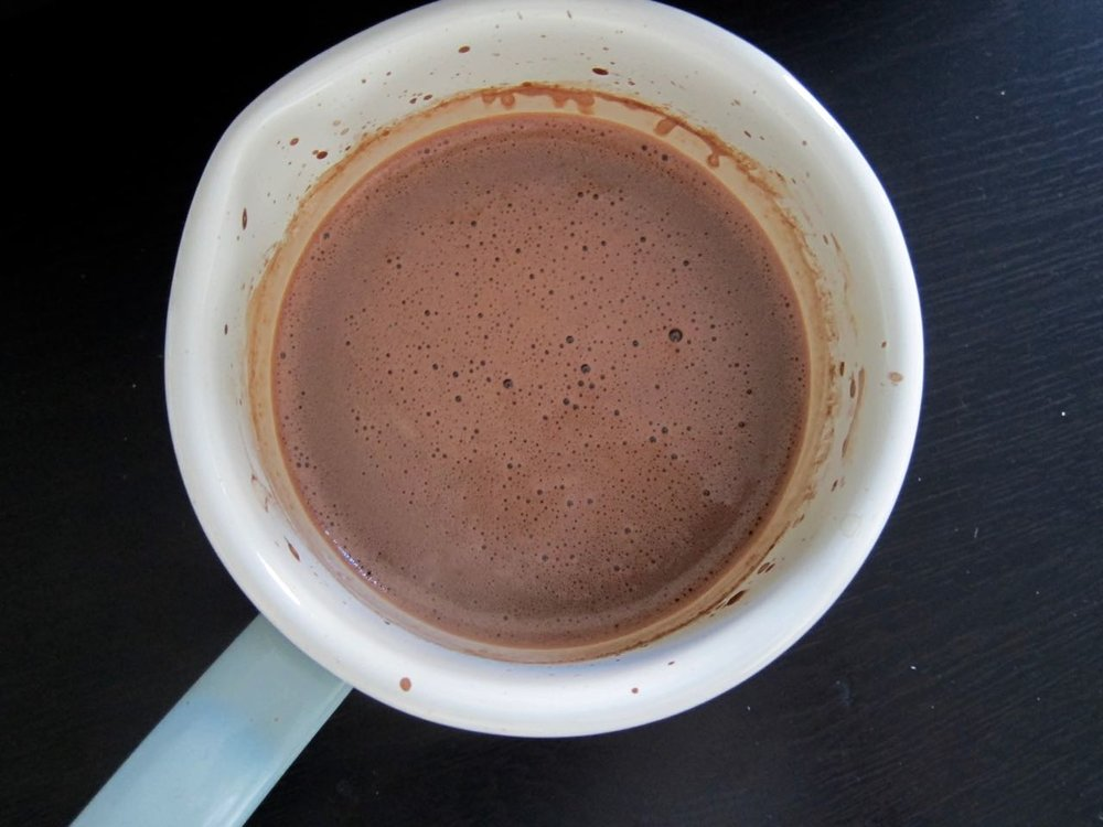 finished hot chocolate