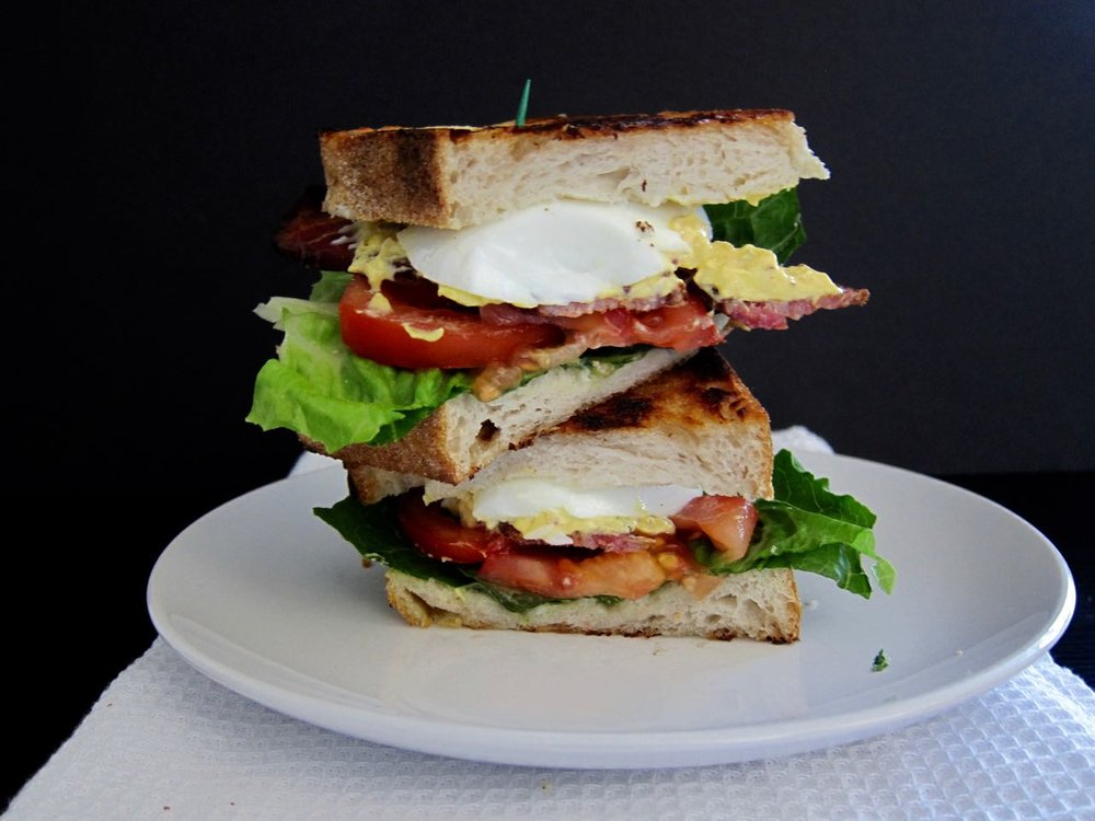 BLT with Deviled Egg