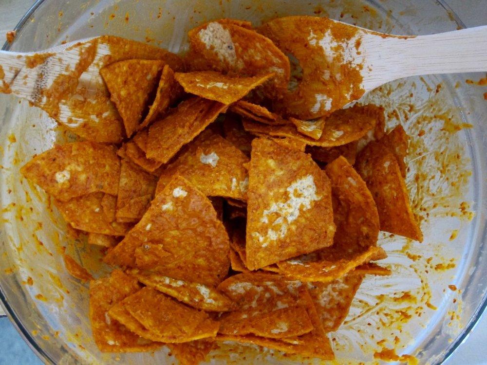 tortilla chips tossed in salsa de arbol.jpg