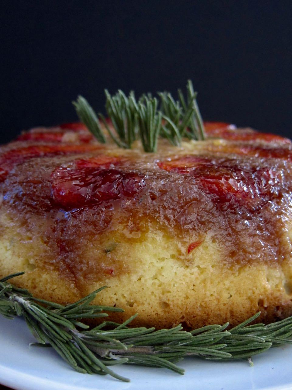 blood orange rosemary upside down cake